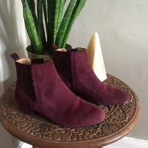 Banana Republic Maroon Chelsea Boots